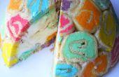 Hoe maak je een regenboog bombe taart