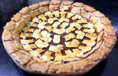 Geroosterde Pepper marmelade Pie met decoratieve korst