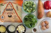 Mountain Bread™ - geroosterde groente Quiche
