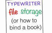 Opslag van de bestanden van de schrijfmachine (hoe te binden van een boek)