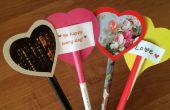 Gemakkelijk Valentines gemaakt van tijdschrift pagina's, cardstock en papier