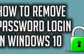How To Disable Windows 10-wachtwoord inloggen