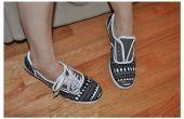 Aangepaste geschilderd doek schoenen