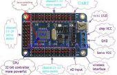 Arduino mini USB 24 kanaal servo controller boord