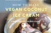 Vegan kokosijs | Recept van de banaan-gratis