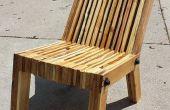 Pallet houten stoel zat