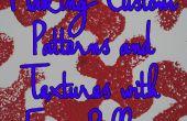 Maken van aangepaste patronen en texturen met Foam Rollers