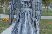 Huilen engel of standbeeld kostuum