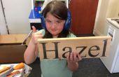 Kinderen bouwen - Lasergesneden slaapkamer naam Plaque