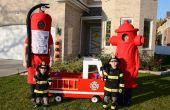 Bestrijding van brand familie Halloween kostuums