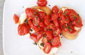 Geroosterde tomaat en Ricotta Crostini