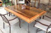 Terras tafelblad gemaakt van geregenereerde dek hout