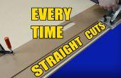 Maken van rechte snijdt elke keer met een bord deur