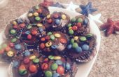 Fourth Of July Brownie cakejes met M & M Topping