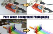 Zuivere witte achtergrond fotografie met behulp van Smartphone