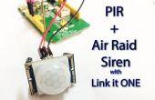 Motion Sensing Air Raid Siren met koppelen een!