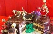 """""""Dood door chocolade"""" Skeleton verrassing taart"""