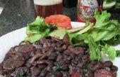 Braziliaanse zwarte bonen met worst