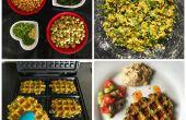 Wafalafel: heerlijke mix-gratis wafelmotief falafels