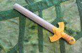 Held van legende schuim zwaard