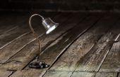 Schattige kleine bureaulamp, gemaakt van schroot Fullmetal, Steampunk