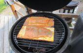 Ahornsiroop - Cedar Plank zalm - grote groene ei/Kamado barbecue