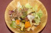 Geroosterde groente salade met een zuidelijke twist