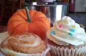 Pompoen Swirl Cheescake Cupcakes