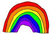 Hoe teken je een regenboog