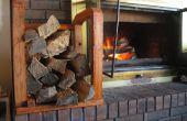 Indoor brandhout Rack gemaakt met behulp van ruwe brandhout