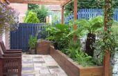 Papa helpen & bouwen een geweldige tuin
