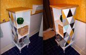 Funky kast gemaakt van voorzien/gevonden items