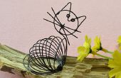 Hoe maak je een schattig zwarte draad gewikkeld kat Craft for Kids