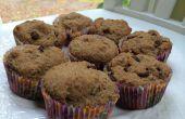 Gluten en zuivel-vrij donkere chocolade Chip Muffins van lijnzaad