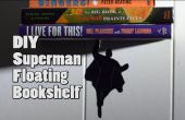 Superheld zwevende boekenplank