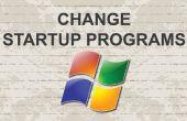 Het wijzigen van opstarten programma's Windows 7
