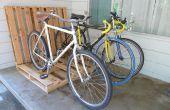 Eenvoudige Pallet fietsenrek