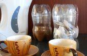 Plastic flessen maken grote thee, suiker & koffie bussen