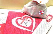Een Brave maken de weer Valentijnsdag kaart en gave en ga bezoek de zieken