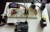 Seriële Servo Controller w/Arduino - controle tot 12 Servos tegelijk met behulp van de Arduino en een USB-verbinding
