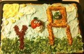 Boze vogels groente Pizza