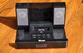 Lage begroting stereo versterker van een ipod-dock, hergebruik, recyclen!