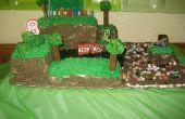 Cake van de kindverjaardag Minecraft