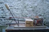 Ter plaatse lasser van een magnetron transformator en watertank