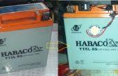 Oude, dode batterij in nieuwe noodsituatie licht schakelen en nog meer