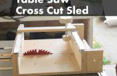 Hoe te maken van een kruis slee voor een tabel zaag gesneden