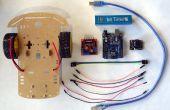 Arduino Uno en Visuino: controle van slimme auto Robot met Joystick en L298N Motor Driver