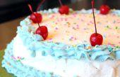 Zelfgemaakte ijs taart