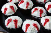 Vampier beet cupcakes