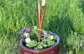 Ondersteuning bouw een planter stand van schroot hout & een oude rand...